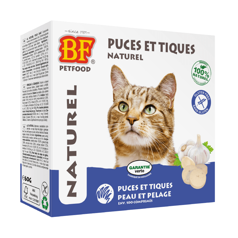 anti puces tiques chats naturel biofood 8