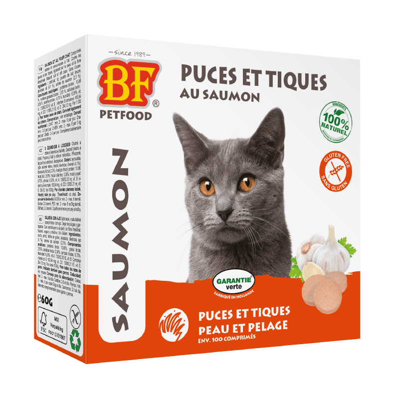 anti puces tiques chats saumon biofood 8