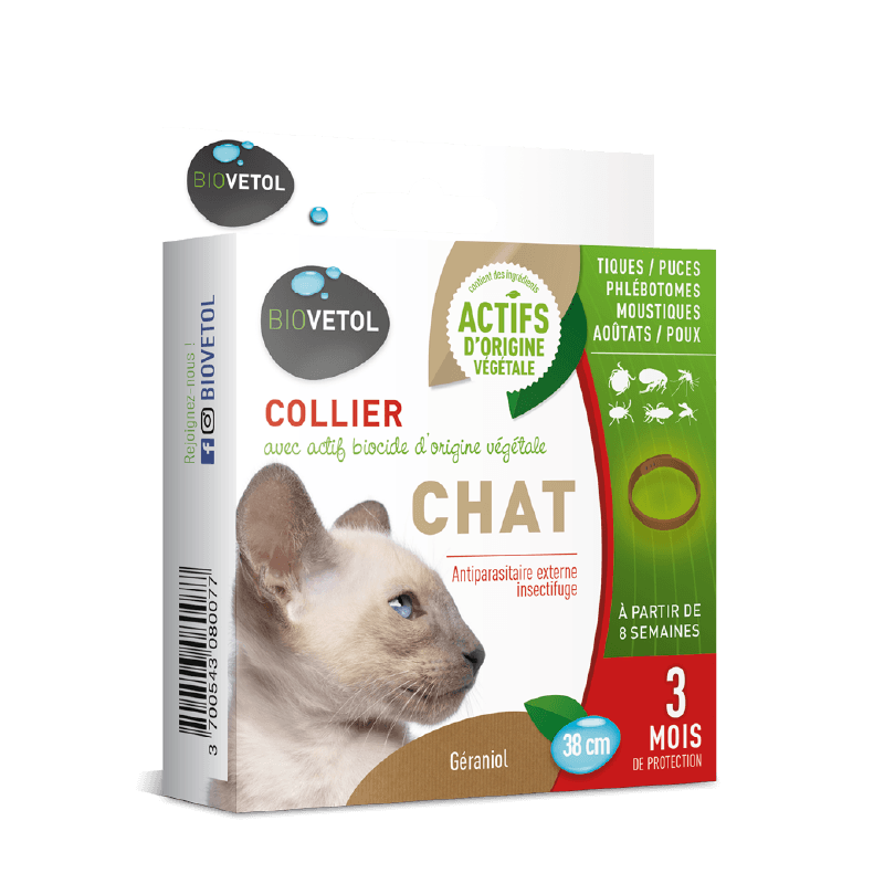 8007 collier antipuces chat biovetol 8